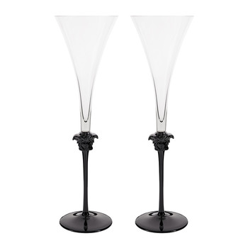 Medusa Lumiere Haze Champagne Flutes - Set of 2
