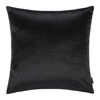 Cotton Velvet Pillow - 45x45cm - Black