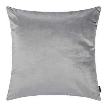 Cotton Velvet Pillow - 45x45cm - Silver