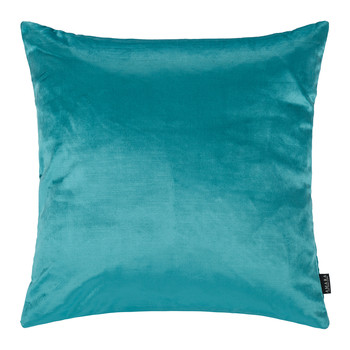 Cotton Velvet Pillow - 45x45cm - Turquoise