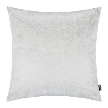 Hester Velvet Cushion - 50x50cm - White/Chrome