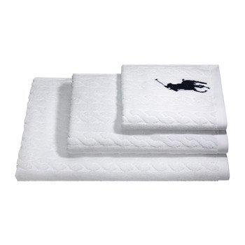 Cable White Towel