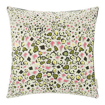 Leopard Lights Cushion - 50x50cm - Natural