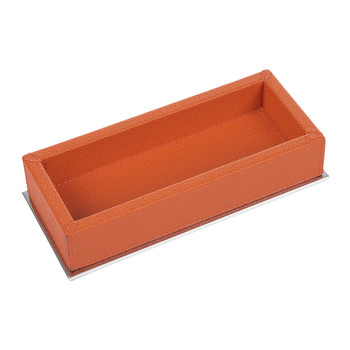 Baxter Leather Rectangular Trinket Tray - Mango Golf