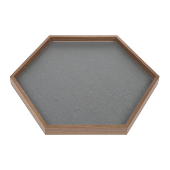 Liberty Hexagon Leather Tray - Graphite Golf