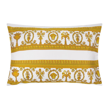 Barocco&Robe King Size Pillowcase Pair - White/Gold