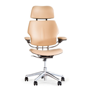 Freedom Headrest Office Chair - Columbia Leather - Sand