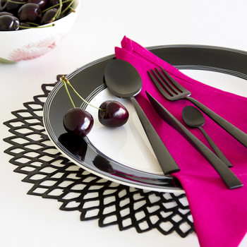 Duna Matte Black Table Spoon