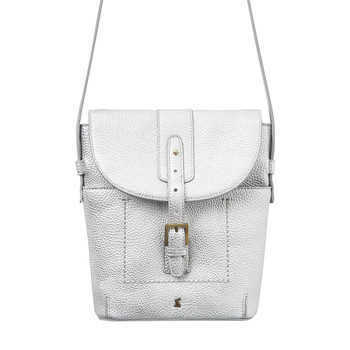 Tourer Bright Cross-Body Bag - Silver