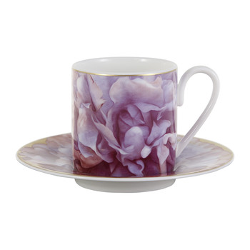 Eden Coffee Cup & Saucer - Pink