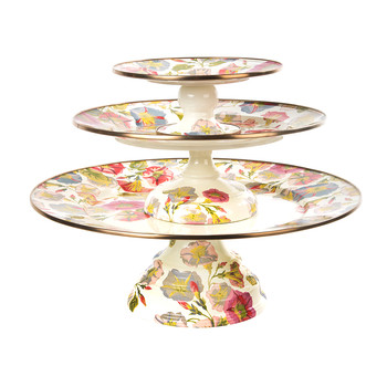 Morning Glory Pedestal Platter - Small