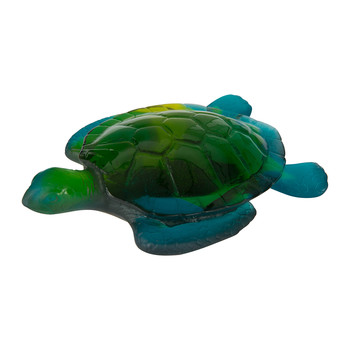 Turtle Sculpture - Blue/Green