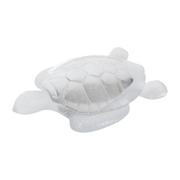 Turtle Sculpture - White