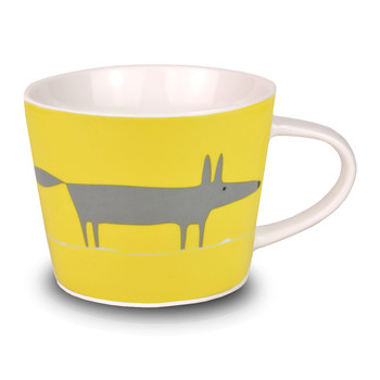 Mr Fox Mini Bucket Mug - Charcoal and Yellow