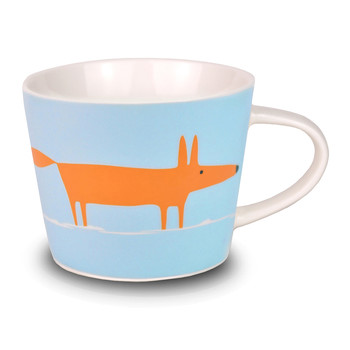 Mr Fox Mini Mug - Orange and Duck Egg