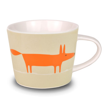 Mr Fox Mini Mug - Orange and Neutral