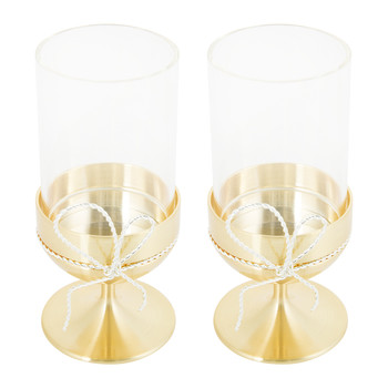 Love Knots Tealight Holders - Gold