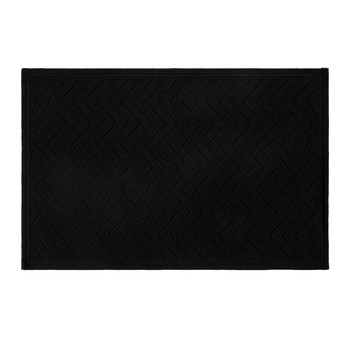 Seabury Cotton Bath Mat/Rug - Black