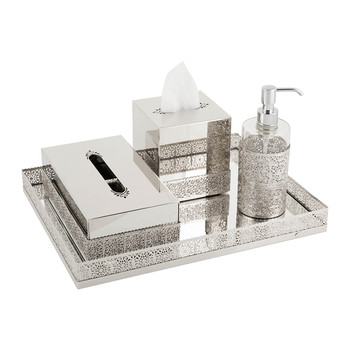 Marbella Tissue Box - Chrome