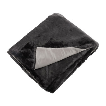 Faux Fur Throw - Black
