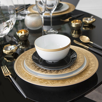 Goa Table Spoon - Matt Black Gold