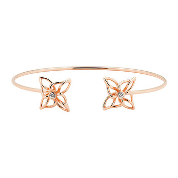 Ciell Crystal Breeze Ultra Thin Cuff - Double - Rose Gold/Crystal