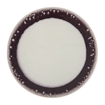 Poeme Serving Plate - Purple/White