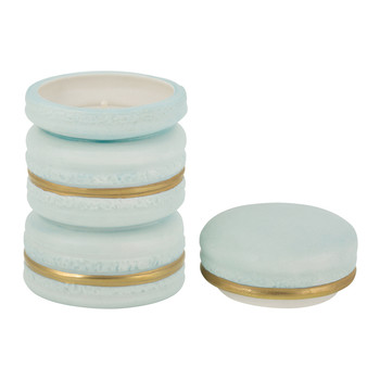 Baby Macaron Scented Candle - Turquoise & Gold