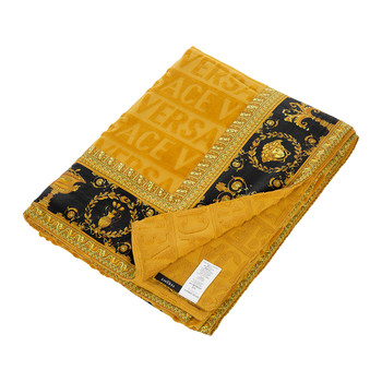Barocco&Robe Beach Towel - Gold/Black