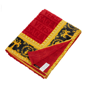 Barocco&Robe Beach Towel - Red