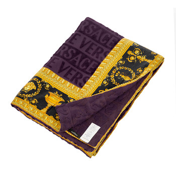 Barocco&Robe Beach Towel - Purple