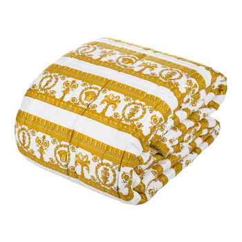 Barocco&Robe Reversible Bedspread - Gold/Black/White