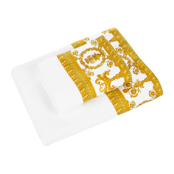 Barocco&Robe Towel - White/Gold