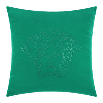 Medusa Studs Cushion - 45x45cm - Emerald