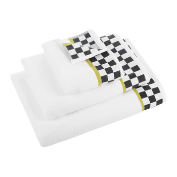 Black & White Check Towel