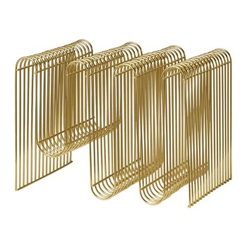 Curva Magazine Holder - Gold