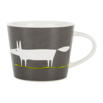 Mr Fox Mini Mug - Charcoal and Lime