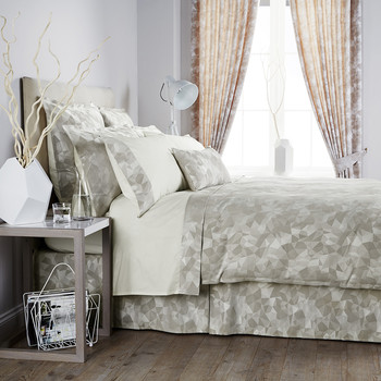 Mosaic Taupe Duvet Cover