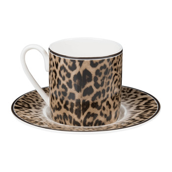 Tasses et soucoupes à expresso Jaguar - Lot de 6