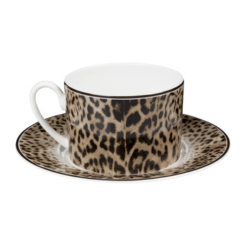 Jaguar Teacups & Saucers - Set of 6
