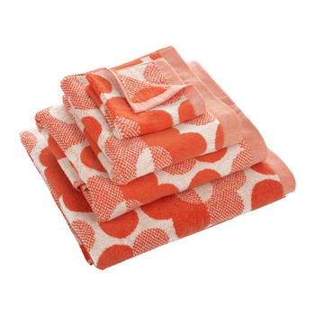 Sunset Floral Towel - Persimmon