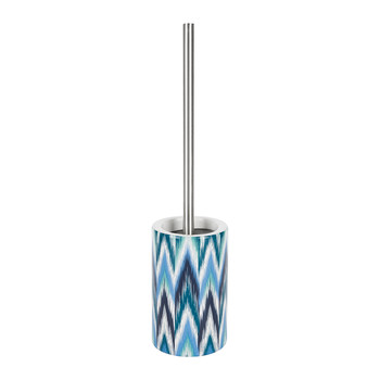 Ikat Toilet Brush - Blue