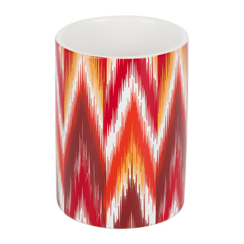 Ikat Toothbrush Holder - Red