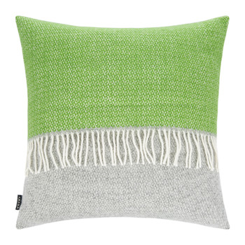 Snapdragon Wool Pillow - 60x60cm - Gray/Green