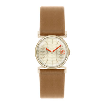 Cecelia Watch with Thick Strap - Brown