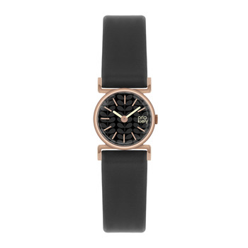 Cecelia Watch with Thin Strap - Black