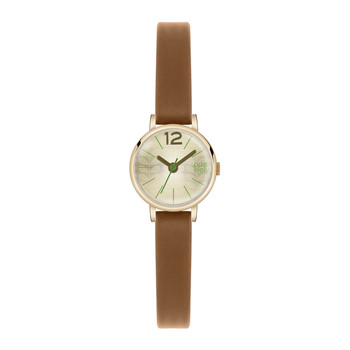 Frankie Watch with Thin Strap - Brown