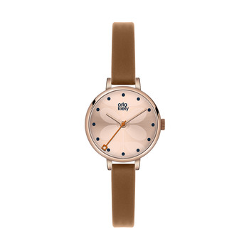 Ivy Watch Mini with Thin Leather Strap - Brown