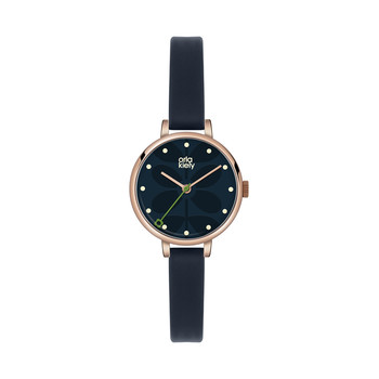 Ivy Watch Mini with Thin Leather Strap - Navy