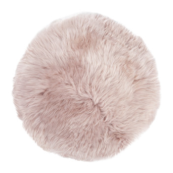 New Zealand Sheepskin Seat Pad - Long Wool - Rosa